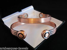 PREMIUM BIO MAGNETIC BANGLE BRACELET COPPER M/L TORQUE ARTHRITIS RELIEF AJMB