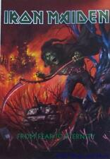 """IRON MAIDEN  Rock flag/ Tapestry/ Fabric Poster   """"Fear To Eternity""""   NEW"""