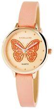Damenuhr Rosè-Gold Rosa Schmetterling Analog Quarz Armbanduhr D-100000300344500