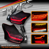 Smoked Red Full LED Tail lights & Sequential Indicator for Ford Focus LZ 15-18