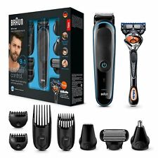 Braun 9-in-1 Precision Beard/Body Trimmer Shaver +Gillette Fusion ProGlide Razor