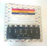 Vintage Weight Watchers Selection Plan Daily Tracker