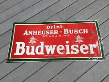 Real Vintage Anheuser-Busch St Louis Prohibition Tin Sign Antique Coshocton Art