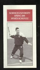 Norwich Cadets--2001 Tennis/Spring Sports Schedule