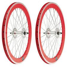 """2x Llanta Rueda para Bicicleta BMX GRAZIELLA 20"""" Fixed Aluminio Color ROJO 3749"""