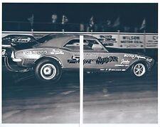 "1967 Drag Racing-Mel Perry's ""Super HUGGER-AA/Funny Car-Cecil County Drag-O-Way"
