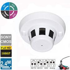 HD TVI 2.4MP 1080p Spy Smoke Detector  Hidden Camera Sony CMOS 4 IN 1