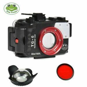 Kit Seafrogs Custodia sub per fotocamera Olympus TG-6 + Dome Port + Red filter