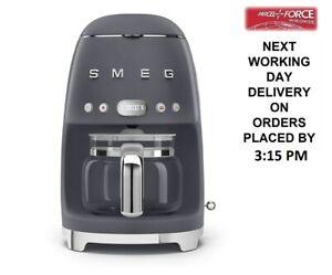 Smeg DCF02GRUK Grey 50s Retro Style Filter Drip Coffee Machine + 2 Year Warranty