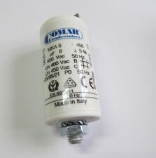 MKP Betriebskondensator 6µF / 450VAC - Motorkondensator - COMAR 30x57mm / 6,0µF