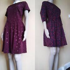 Casual Women Sun Dress Short Sleeve Fashion Ladies Flower/Heart Dress Size 12-18