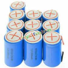 10 pcs 4/5 SubC Sub C 2800mAh 1.2V Ni-Mh Rechargeable Battery Blue Cell with Tab