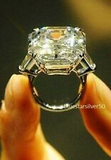 16x13MM Asscher Cut Elizabeth Taylor Inspired Engagement Ring 925Sterling silver