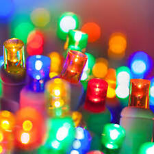 100 count 5 mm LED Christmas Light String Multi Color