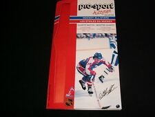 1986-87 PRO-SPORT AUTOGRAPH CARD °  JETS No. 10°DALE HAWERCHUK<> COLLECTION CARD
