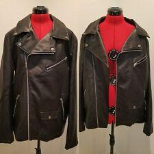 XL American stitch vegan leather moto jacket
