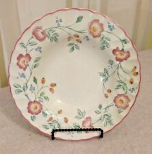 "Churchill Briar Rose 9"" Rimed Soup Bowl Made in Staffordshire England"
