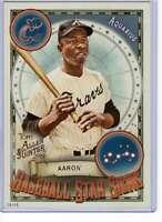 Hank Aaron 2019 Allen and Ginter Baseball Star Signs 5x7 #BSS-2 /49 Braves