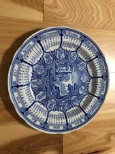 "Spode ~ Blue Room Calendar Plate  ""BLUE ITALIAN"" 1996 ~ 1st in Series"