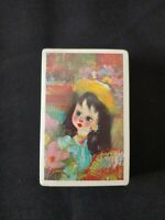 Full Deck Sealed Santini Poncini Big Eyed Girl Doll Playing Cards Arrco Chicago