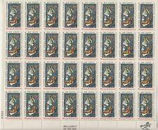 sheet of 32 WILLAM M. HARNETT / AMERICAN PAINTING stamps - Scott #1386 MNH 1969