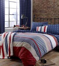 Catherine Lansfield Boys/Kids Stars & Stripes Quilt Cover/Duvet Cover Bedding