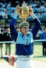 Boris BECKER Wimbledon Tennis Champion Signed 12x8 Autograph Photo A AFTAL COA