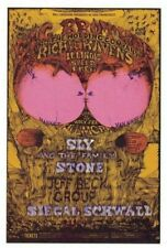 Big Bro Janis Joplin Sly Jeff Beck Fillmore Bill Graham Postcard Bg-129 N/M B-15