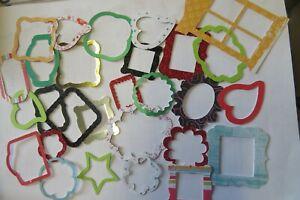 Job lot 50 Die cut assorted Mini Frames - Ideal for card making / scrapbooking