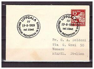 5496) SWEDEN 1959 Cover Uppsala Neapel - Napoli