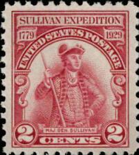 1929 2c Major General Sullivan Expedition Scott 657 Mint F/VF NH