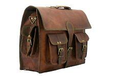 Men's Leather Bag Business Messenger Briefcase Laptop Shoulder Handbag Brown