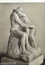 HELIOGRAVURE Auguste RODIN LE BAISER groupe MARBREprofil 27,8x21 cm L'ART