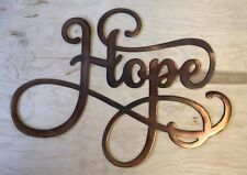 Hope Sign Rustic Copper Patina Finish Metal Wall Art Hanging