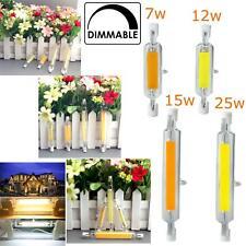 Tubo de vidrio R7S LED Bombillas Regulable 7W 12W 15W 25W 78/118mm reemplaza Halógena