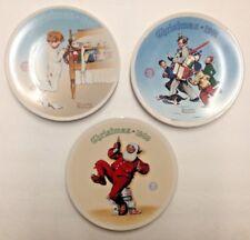 Norman Rockwell Christmas Collector plates NIB Lot of 3 Christmas plates