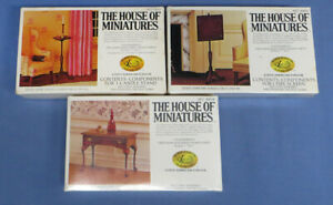 The House of Miniatures Lot of 3 Queen Anne Table, Screen, Stand New in Box