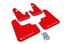 Rally Armor Mud Flaps Guards for 08-15 Lancer & Ralliart (Red w/White Logo)