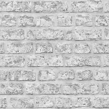 RUSTIC BRICK WALLPAPER - GREY - ARTHOUSE 889606 WALL NEW