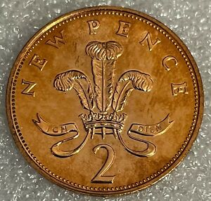 Stunning Toned - 1971 Great Britain Two Pence PROOF 2p - Elizabeth II  #303