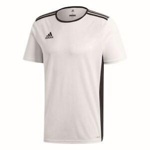 Adidas Kids Sports Football Soccer Short Sleeve Jersey Shirt Top Crew Neck White