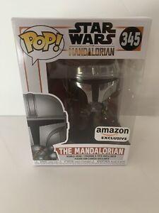 Funko Pop! Star Wars The Mandalorian Chrome #345 Amazon Exclusive