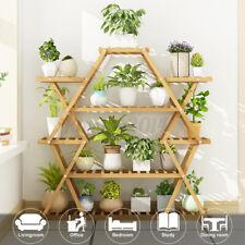 Balcony Wooden Flower Rack Shelf Home Flower Pot Stand Solid Wood  ! | *