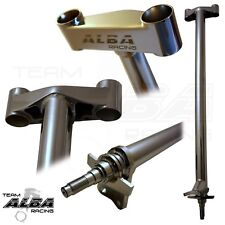 "Honda TRX 400EX 400X  Steering Stem  +1""  Chromoly Chromed   Alba Racing   740"