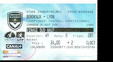 Ticket / Billet * Girondins de Bordeaux / Lyon * Ligue 1 - 2006/2007