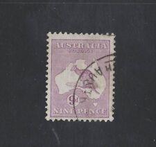 1916 Australia Roo 9d violet die Iib Sg 39b third wmk fine used