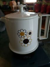 Vintage Regal Electric Poly Hot Pot 5 Cup Daisy Pattern