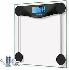 Etekcity Digital Body Weight Bathroom Scale with Body Tape Measure, Large Blue L