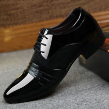 Men's Business Casual Oxford Leather Shoes Formal Dress Party Pointy Toe Loafers
