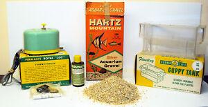 1950's Permalife Aquarium Supplies In Original Boxes RARE